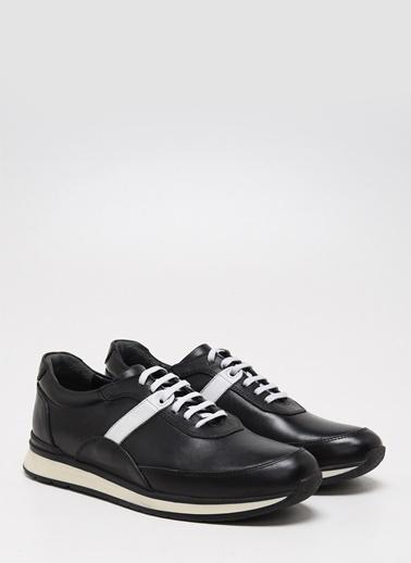 F By Fabrika Fabrika Deri Termo N Bağcıklı Renk Janko Erkek Sneaker Siyah